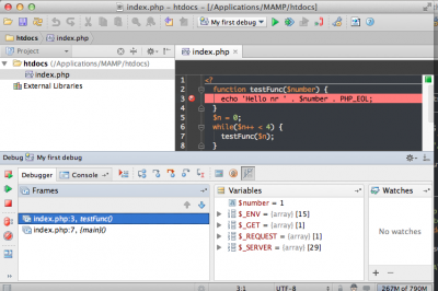 Debug view in PHPStorm