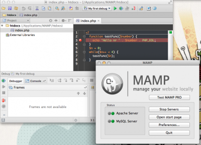 Debugging with PHPStorm/xdebug using MAMP